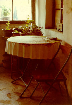 A dining area in a commune near Beijing, China.  1983  - Copyright Richard Grossman